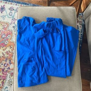Royal blue Cherokee iflex scrub set